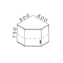 Nadstavná rohová skrinka VISIO 80