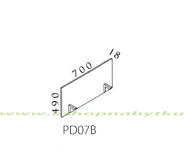 Deliaci panel PD07B VISIO 70